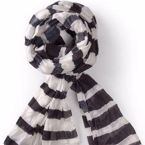 Gudrun Sjoden Striped Shawl Scarf in Eco-Cotton